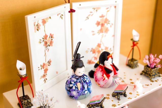 木目込み雛人形ぷりふあ 2018年度初節句モデルの台屏風をご紹介!