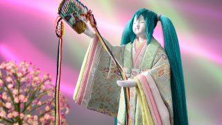 真多呂作の木目込み雛人形「初音ミクのお雛様」270年の伝統で再現!