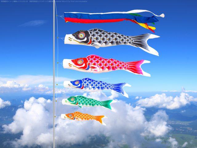 鯉のぼりの吹流しと鯉の関係