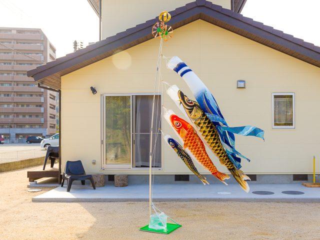 鯉のぼりの飾り方-お庭に飾る-