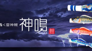 Preferプロデュースの鯉のぼり「神鳴-KAMUI-」