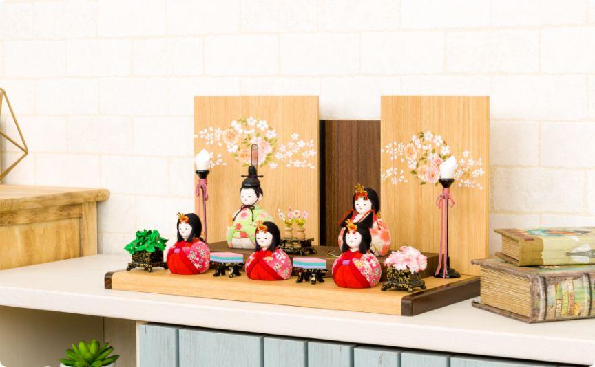 木目込み Wood style -金彩花紋-
