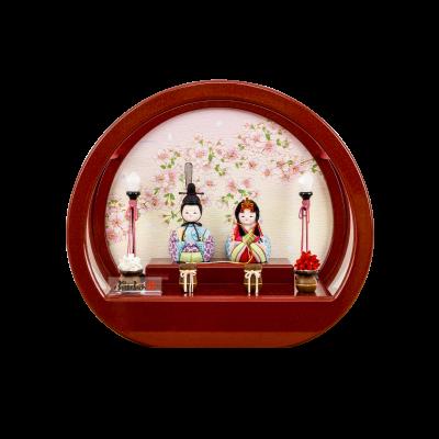 木目込み 伝統和工芸ケース飾り 月ノ桜