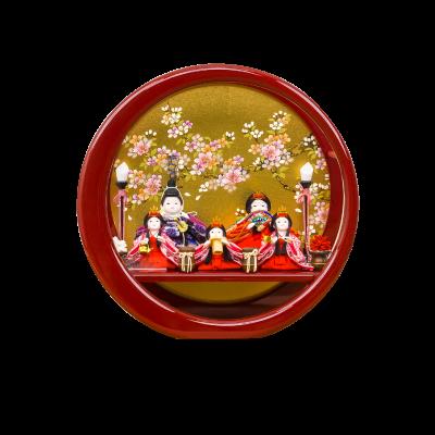 衣 伝統和工芸 月ノ輪 朱塗